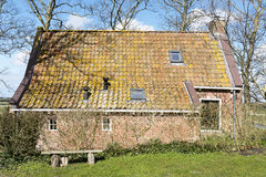 Terp house in Friesland. Stock Photo