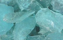 Terrón de cristal azul Imágenes de archivo libres de regalías