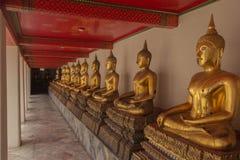 Terraço buddha no wat po, Tailândia Foto de Stock