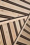Terraço coberto com as tábuas corridas Imagens de Stock Royalty Free