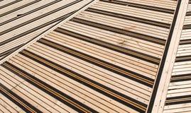 Terraço coberto com as tábuas corridas Fotografia de Stock Royalty Free