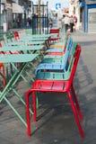 Terraço colorido na cidade imagens de stock