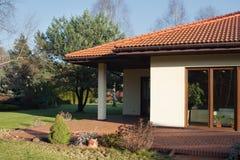 Terraço da casa contemporânea Imagens de Stock