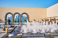 Terraço de Art Museum islâmico, Doha, Catar Imagem de Stock Royalty Free