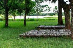 Terraço de bambu para uma barraca foto de stock royalty free