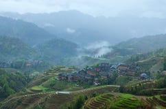 Terraço de Longji Imagens de Stock Royalty Free