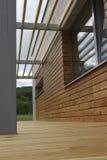 Terraço de madeira Fotos de Stock