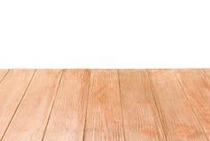 Terraço de madeira no fundo branco Imagem de Stock Royalty Free