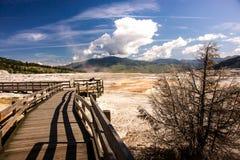 Terraço de Mammoth Hot Springs Fotografia de Stock