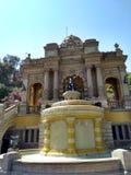 Terraço de Netuno, Cerro Santa Lucia, Santiago de Chile imagens de stock royalty free