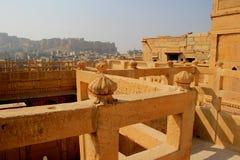 Terraço de Patawon-ki-Haweli, Jaisalmer imagens de stock