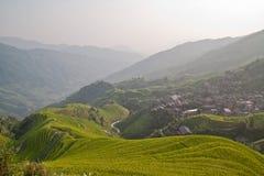 Terraço do arroz de Guanxi imagem de stock