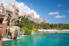 Terraço do casino de Atlantis com cavalo marinho, Nassau, Bahamas imagens de stock