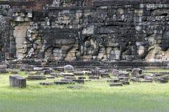 Terraço do elefante perto de Angkor Wat Fotografia de Stock
