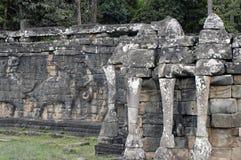 Terraço do elefante perto de Angkor Wat Imagens de Stock