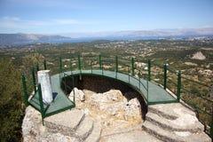 Terraço do panorama em Pelekas (Corfu, Grécia) imagens de stock