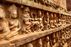 Terraço do rei do leproso, Angkor Wat, Camboja Foto de Stock