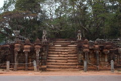 Terraço dos elefantes, Angkor Thom Fotografia de Stock