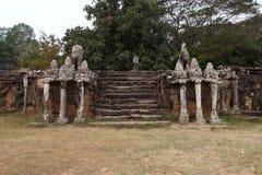 Terraço dos elefantes, Angkor Thom Fotografia de Stock Royalty Free