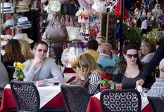 Terraço exterior do caffe em Veneza Fotos de Stock Royalty Free