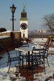 Terraço sob a neve Imagem de Stock Royalty Free