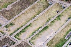 Terraços agrícolas de ruínas do Inca de Ollantaytambo imagens de stock royalty free