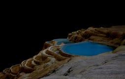 Terraços da pedra calcária perto de Shangrila Fotografia de Stock