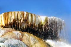Terraços de Mammoth Hot Springs Foto de Stock