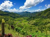 Terraços do arroz de Ifugao do patrimônio mundial em Batad, Banaue, L do norte imagens de stock