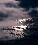 Terraços do arroz do yuanyang imagens de stock