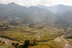 Terraços do campo do arroz Foto de Stock