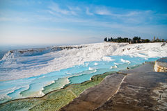 Terraços do travertine de Pamukkale Fotografia de Stock Royalty Free