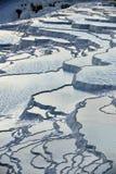 Terraços do travertine de Pamukkale Imagem de Stock