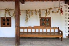 Terraços interiores da casa rural ucraniana velha fotos de stock royalty free