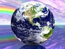 Terra 3D abstrata Fotografia de Stock Royalty Free