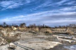 Terra abandonada velha HDR Fotografia de Stock