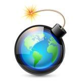 Terra abstrata dada forma como uma bomba Fotografia de Stock Royalty Free