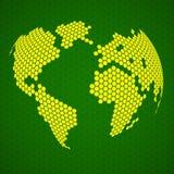 Terra abstrata do globo dos hexágonos Imagem de Stock