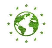 Terra abstrata e estrelas da grama verde Fotos de Stock Royalty Free