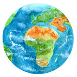 Terra in acquerello Fotografie Stock Libere da Diritti