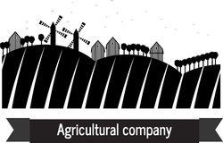 Terra agricola dell'azienda agricola della società Fotografie Stock Libere da Diritti