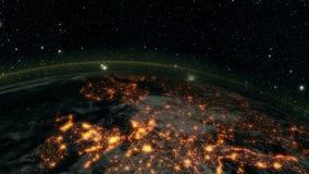 Terra alla notte stock footage