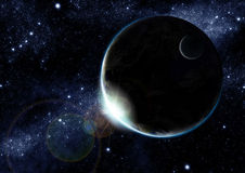 Terra alla notte Immagini Stock Libere da Diritti