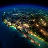 Terra da noite. Uma parte de America do Norte - México Foto de Stock Royalty Free