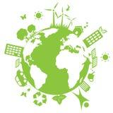 Terra ambientale verde Fotografia Stock