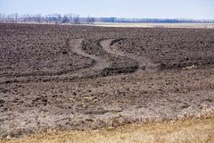 Terra arabile Fotografia Stock