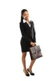 Terra arrendada americana africana da mulher de negócio imagens de stock royalty free