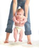 Terra arrendada da matriz seu bebê fotografia de stock