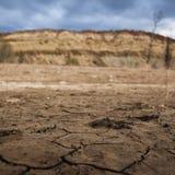 Terra asciutta e siccità da riscaldamento globale Immagini Stock