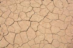 Terra asciutta ed incrinata Fotografia Stock Libera da Diritti